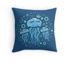 Jellyfish Princess Smiling Throw Pillow