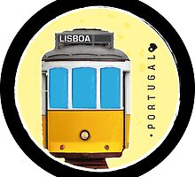 Symbols of Portugal - Lisboa Lisbon Tram #02 by Silvia Neto