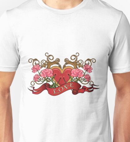 Heart in roses with thorns  Unisex T-Shirt
