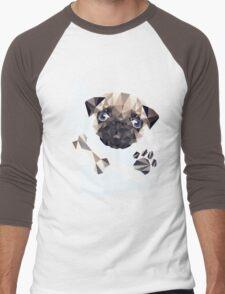 Cute Pug Men's Baseball ¾ T-Shirt