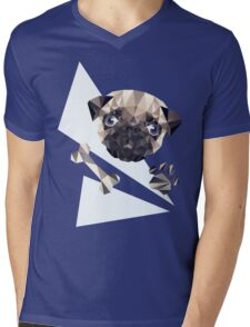 Cute Pug Mens V-Neck T-Shirt
