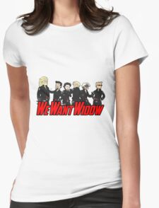 We Want Widow Womens Fitted T-Shirt
