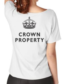 CROWN PROPERTY, THE QUEENS, BRITISH, UK, PRISON, ENGLAND Women's Relaxed Fit T-Shirt