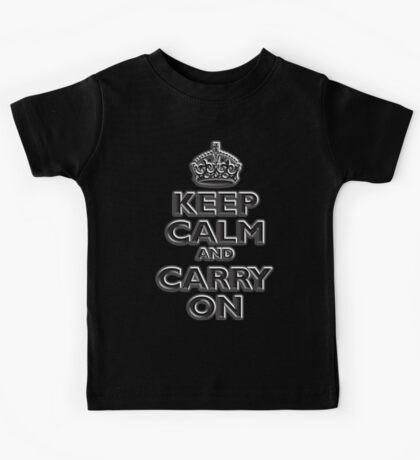 KEEP CALM, Keep Calm & Carry On, British, UK, Britain, Blighty, Chisel on Red Kids Tee