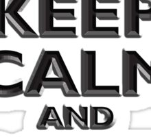 KEEP CALM, Keep Calm & Carry On, British, UK, Britain, Blighty, Chisel on Red Sticker