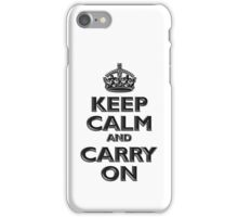 Keep Calm & Carry On, Be British! (Chisel), UK, WW2, WWII, Propaganda iPhone Case/Skin