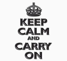 Keep Calm & Carry On, Be British! (Chisel), UK, WW2, WWII, Propaganda Kids Tee