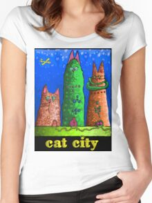 Cat City revisited  Women's Fitted Scoop T-Shirt