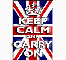 Keep Calm, & Carry On, Union Jack, Flag, Blighty, UK, GB, Be British! Unisex T-Shirt