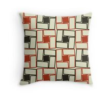 Square Rectangles Pattern Throw Pillow