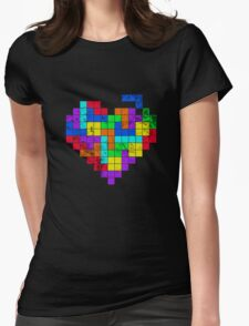 THE GAME OF LOVE ( Dark Version ) Womens Fitted T-Shirt