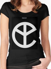 YMFC Peace Out Logo Women's Fitted Scoop T-Shirt