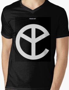 YMFC Peace Out Logo Mens V-Neck T-Shirt