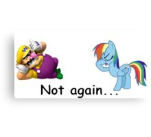Wario and Rainbow Dash Canvas Print