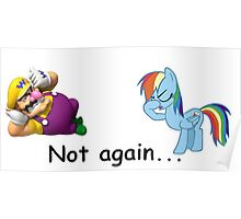 Wario and Rainbow Dash Poster