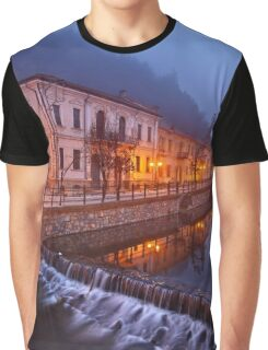 Foggy night falling in Florina Graphic T-Shirt