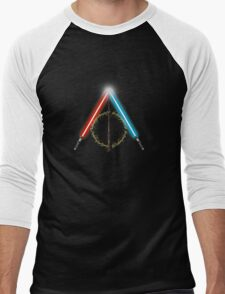 Fantasy Hallows (Black Version) Men's Baseball ¾ T-Shirt