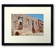 Derelict building, Halki Framed Print