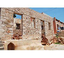 Derelict building, Halki Photographic Print