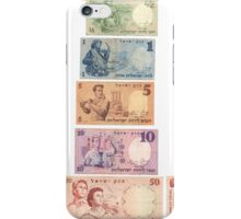 Full set of old obsolete Israeli lira banknotes from 1958 and 1960 iPhone Case/Skin