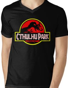 Cthulhu Park Mens V-Neck T-Shirt