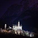 Neuschwanstein Castle at Night by Johannes Valkama