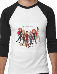 Princesses Assemble  Men's Baseball ¾ T-Shirt