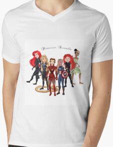 Princesses Assemble  Mens V-Neck T-Shirt