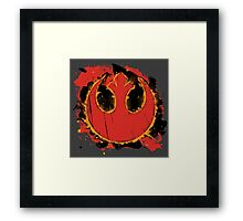 Rebel Splash Framed Print