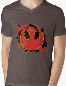 Rebel Splash Mens V-Neck T-Shirt