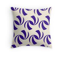 Abstract Blue Beach Ball Pattern Throw Pillow