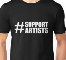 #SUPPORTARTISTS on  dark background - by m a longbottom - PLATFORM58 Unisex T-Shirt