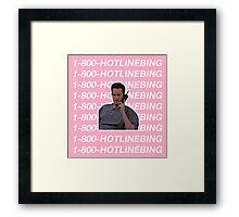 HOTLINE BLING - CHANDLER BING Framed Print