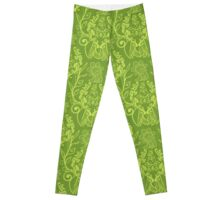 Piranha Damask - Green Leggings