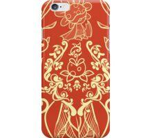 Piranha Damask - Orange iPhone Case/Skin