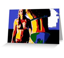 Pop Art Bikini Girls 1 Greeting Card