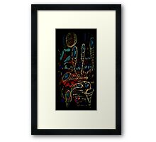 the bright side of the volcano Framed Print