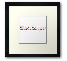 Candy Crush Sodalicious! ( fun Comedy Humour ) Framed Print