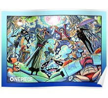 One Piece Mugiwara Color Spread Poster