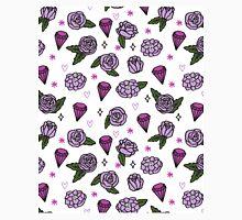 Flowers Diamonds Gems Hearts valentines// pastel purple lilac pink andrea lauren Classic T-Shirt