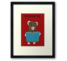 Reading and Tv Framed Print