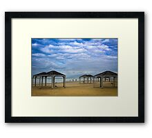 Winter on the Beach Framed Print