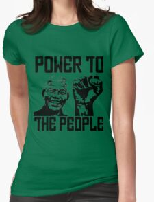 NELSON MANDELA-POWER TO THE POPLE Womens Fitted T-Shirt