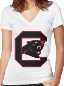 South Carolina Panthers Women's Fitted V-Neck T-Shirt