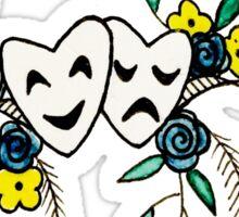 Phil 4:13 Floral Comedy/Tragedy Masks Sticker