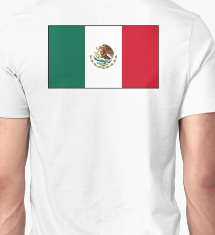 MEXICO, MEXICAN, Mexican Flag, Flag of Mexico, Bandera de México, Pure & simple Unisex T-Shirt