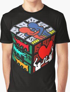 CUBE HARING Graphic T-Shirt