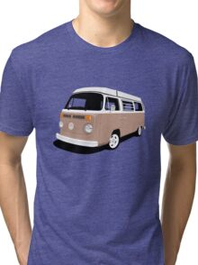 Vw Camper Late Bay tan and white Tri-blend T-Shirt