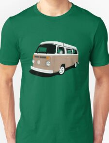 Vw Camper Late Bay tan and white Unisex T-Shirt