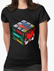CUBE HARING Womens Fitted T-Shirt